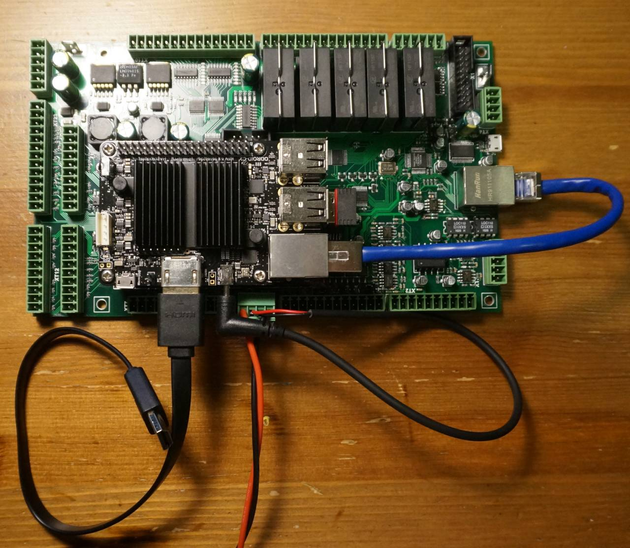 ET7 with Odroid-C2 computer mounted