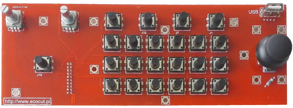 Operator panel board for ET7