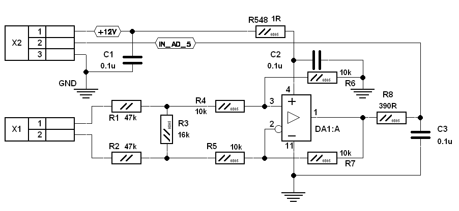 THC addon - differential amplifier schematic design